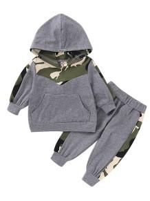 Kids Boy Autumn Zweiteiliger Camou Trainingsanzug
