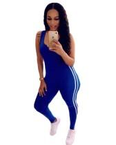 Sport ärmelloser Bodycon Jumpsuit
