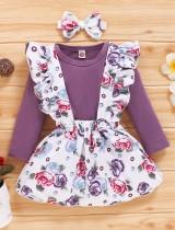 Комплект юбки с принтом для девочек осень 3 шт