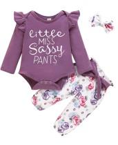 Baby Girl Autumn 3 Stück Print Hosen Set