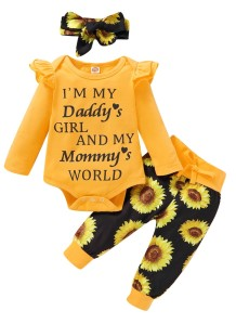 Baby Girl Autumn 3 Stück Print Hosen Set