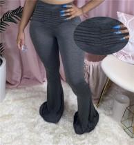 Lässige Hose mit hoher Taille und hoher Taille
