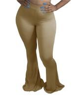 Einfarbige afrikanische High Waist Flare Hose