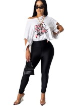 Pantalones de cremallera de cintura alta sexy lisos