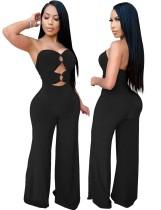 Sexy Plain trägerlosen O-Ringe Jumpsuit