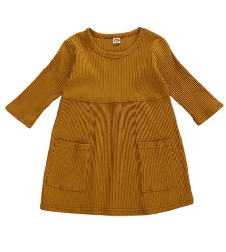 Vestido de otoño para niña con bolsillos