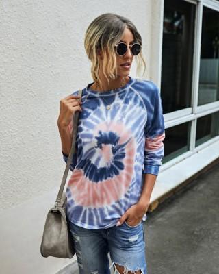 Camicia autunno tie dye o collo