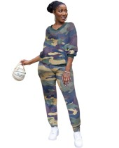 Lässiges afrikanisches zweiteiliges Camou-Hosen-Set
