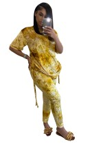 Set di pantaloni casual tie dye africano