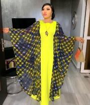 Muslim Print Langes Kleid