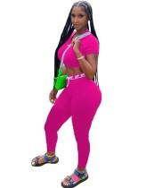 Summer Sports Fitness Crop Top and High Waist Legging Set