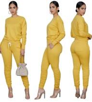 Set di pantaloni impilati in due pezzi casual