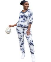 Lässiges afrikanisches zweiteiliges Tie Dye Pants Set