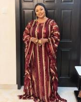 Gestreiftes langes Kleid der muslimischen Pailletten