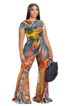 Tuta africana colorata con stampa a campana inferiore