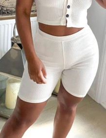 Sexy gestrickte Fitness Shorts mit hoher Taille