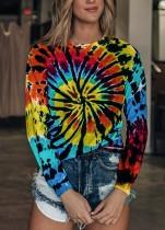 Camisa com decote O com mangas compridas outono