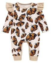 Mamelucos de la mariposa del otoño del bebé