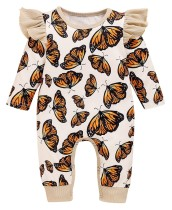 Baby Girl Herbst Schmetterling Strampler