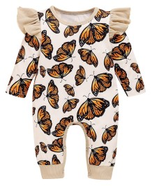 Baby Girl Autumn Butterfly Rompertjes