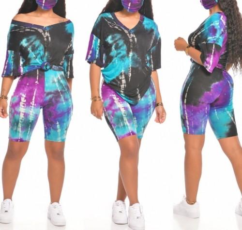 Summer Sexy Two Piece Tie Dye Short Set