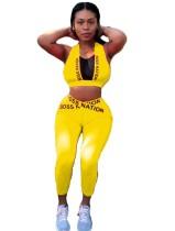 Sportfitness crop top en leggingset met print