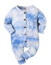 Baby Boy Autunno Tie Dye Button Up Pagliaccetti