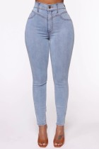 Jeans ajustados de cintura alta sexy