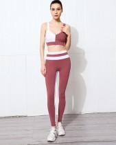 Conjunto de sutiã e legging de cintura alta para ioga esportiva