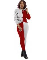 Sonbahar Kontrast İki Parçalı Eşleşen Pantolon Takım