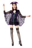 Fantasia de morcego feminino cosplay