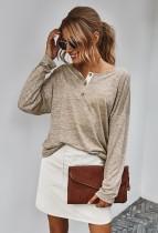 Camicia allentata a maniche lunghe autunno regolare o collo