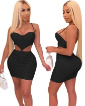 Sexy Cut Out Push Up Halter Bodycon Dress