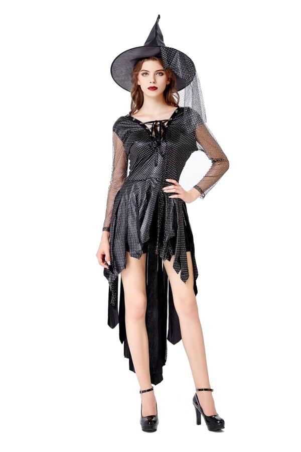 Fantasia de bruxa cosplay feminina