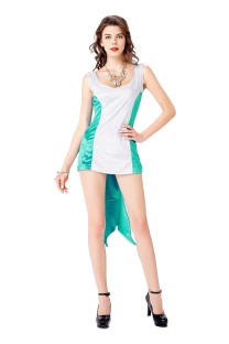 Cosplay Frauen Kontrast Meerjungfrau Kleid