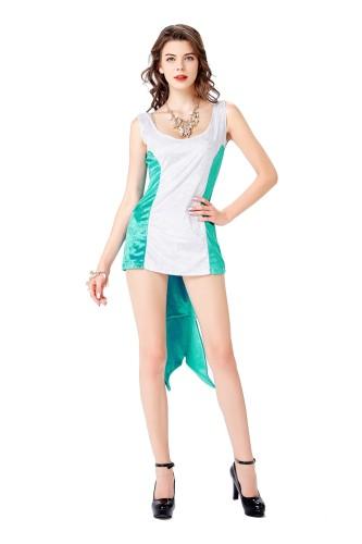 Cosplay Kadın Kontrast Deniz Kızı Elbise