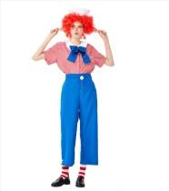 Vestido de payaso de contraste de mujer Cosplay