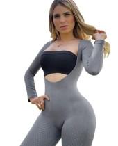 Mono deportivo de manga larga de dos piezas de yoga