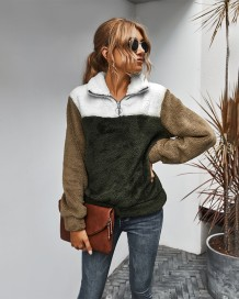Осенние контрастные флисовые пуловеры