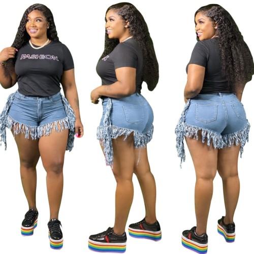 Sexy Tassels Denim Shorts