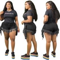 Pantalones cortos de mezclilla con borlas sexy