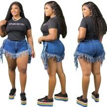 Sexy Quasten Denim Shorts