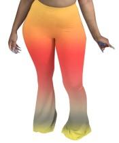 Bell Bottom Hose mit hoher Taille und Farbverlauf