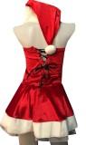 Frauen Weihnachten rot Kostüm Set