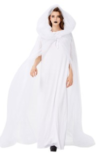 Halloween Women White Bridal Costume