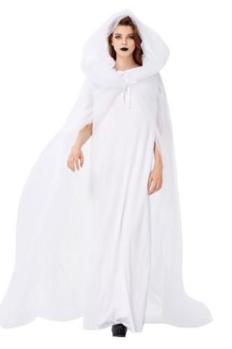 Halloween vrouwen wit bruids kostuum