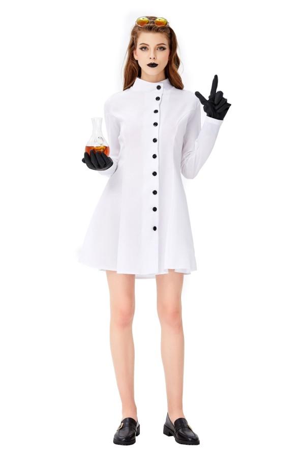 Cosplay vrouwen wetenschapper kostuum