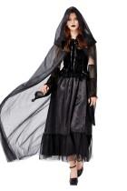 Женский черный свадебный костюм на Хэллоуин