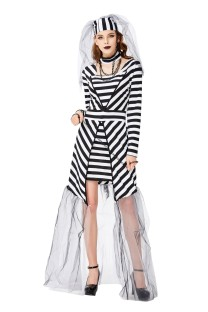 Halloween Women Prison Bridal Costume