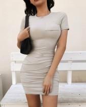 Сексуальное облегающее мини-платье-рубашка со сборками